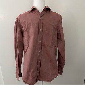 Faint Red Striped Dress Shirt